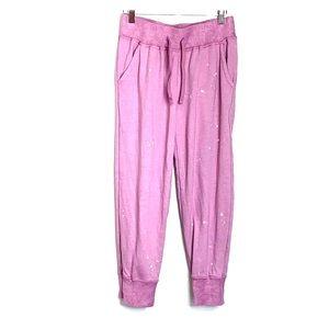 JUNK FOOD • Bleach Spray Rose Crop Sweatpants
